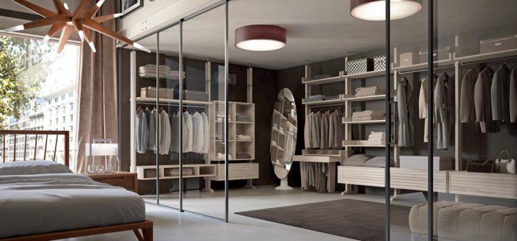 Porte Bertolotto: le cabine armadio con le porte in vetro